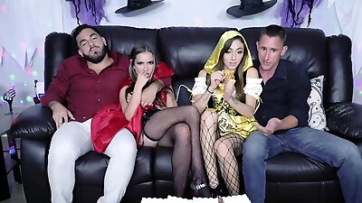 Halloween party into a hot group sex